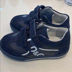 D&G toddler boy navy shoes